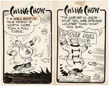 """""""CHING CHOW"""" COMIC PANEL ORIGINAL ART LOT BY WILL"""