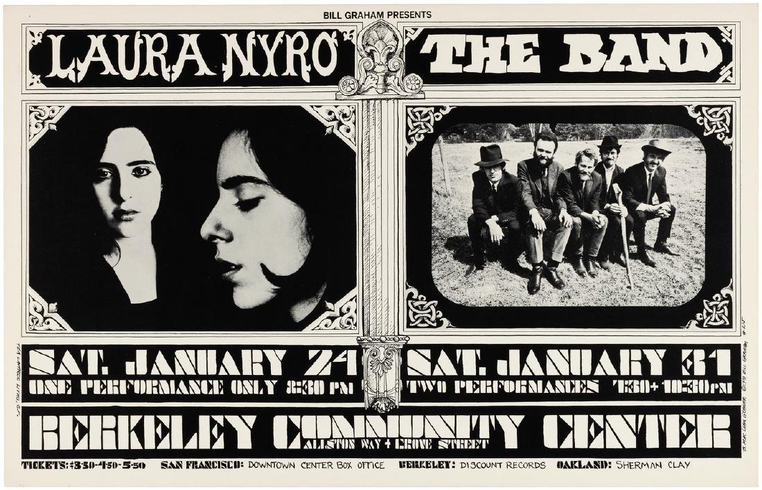 BILL GRAHAM CONCERT POSTER BG-215 FEATURING LAURA NYRO