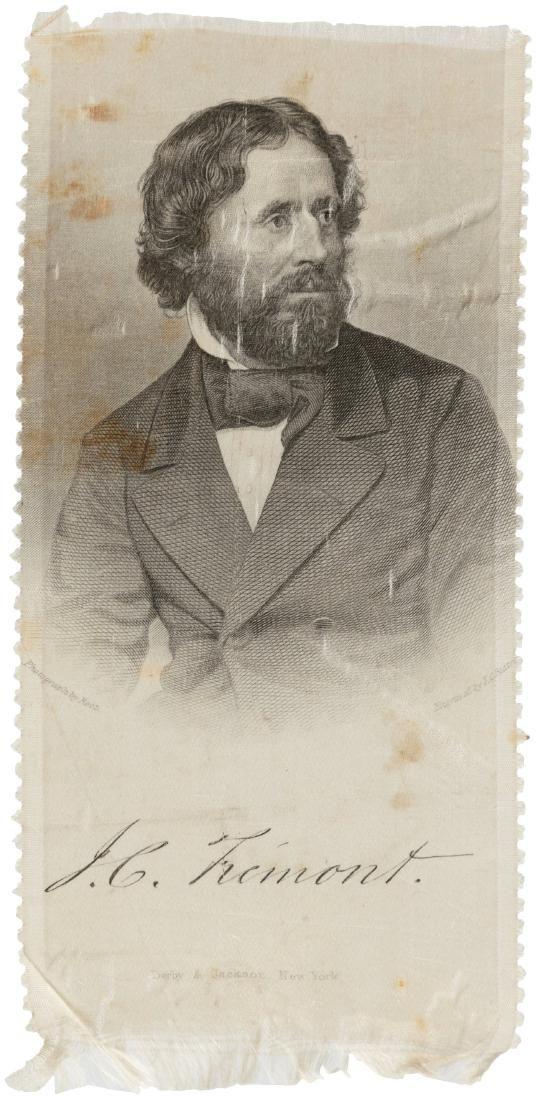 JOHN C. FREMONT 1856 BRADY PORTRAIT RIBBON.
