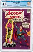 """""""ACTION COMICS"""" #242 JULY 1958 CGC 4.0 VG (FIRST"""