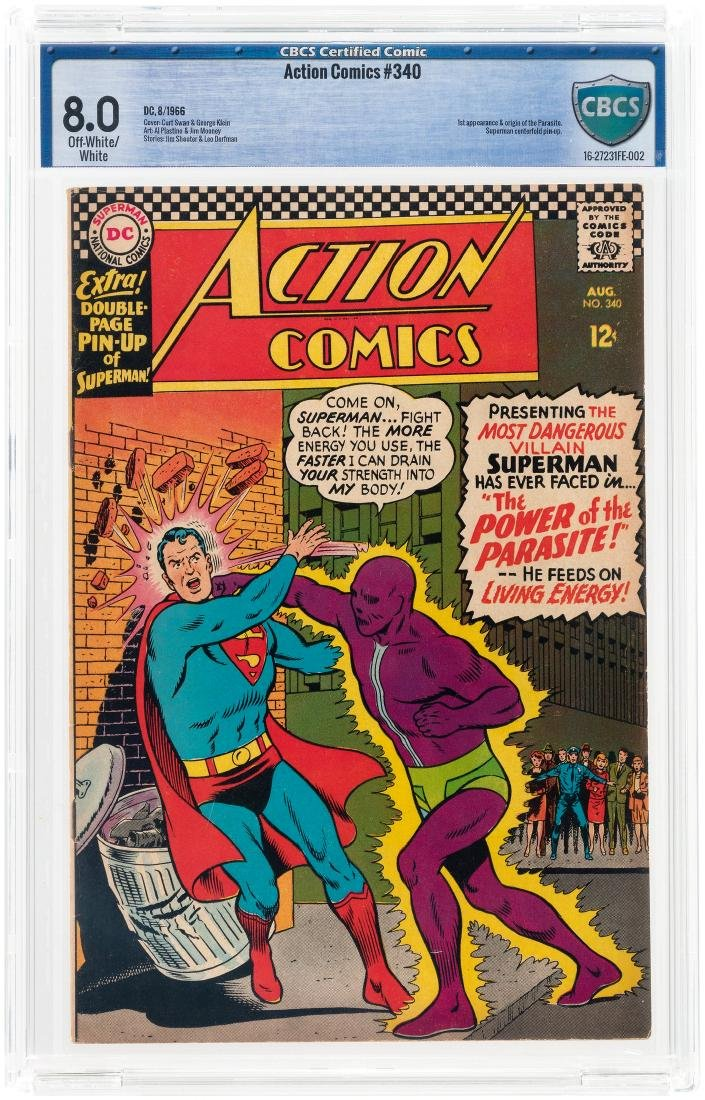 """""""ACTION COMICS"""" #340 AUGUST 1966 CBCS 8.0 VF (FIRST"""