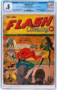 """FLASH COMICS"" #1 JANUARY 1940 CGC 0.5 POOR (FIRST"