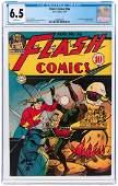 """FLASH COMICS"" #56 AUGUST 1944 CGC 6.5 FINE+."