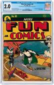 """MORE FUN COMICS"" #63 JANUARY 1941 CGC 2.0 GOOD."