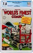 """WORLD'S FINEST COMICS"" #13 SPRING 1944 CGC 7.0 VF-."