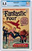 FANTASTIC FOUR 4 MAY 1962 CGC 55 FINE FIRST