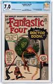 """FANTASTIC FOUR"" #5 JULY 1962 CGC 7.0 FINE/VF (FIRST"