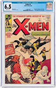 """""""X-MEN"""" #1 SEPTEMBER 1963 CGC 6.5 FINE+ (FIRST X-MEN &"""