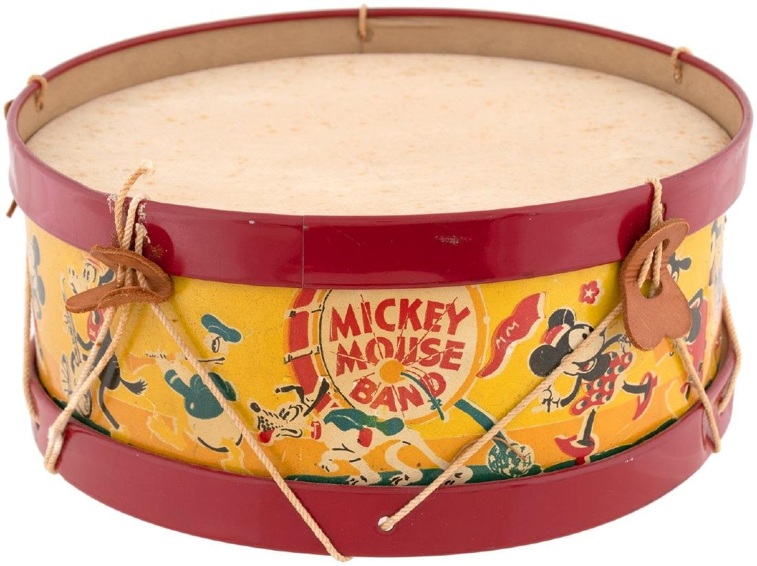 """""""MICKEY MOUSE BAND"""" DRUM (SIZE VARIETY)."""