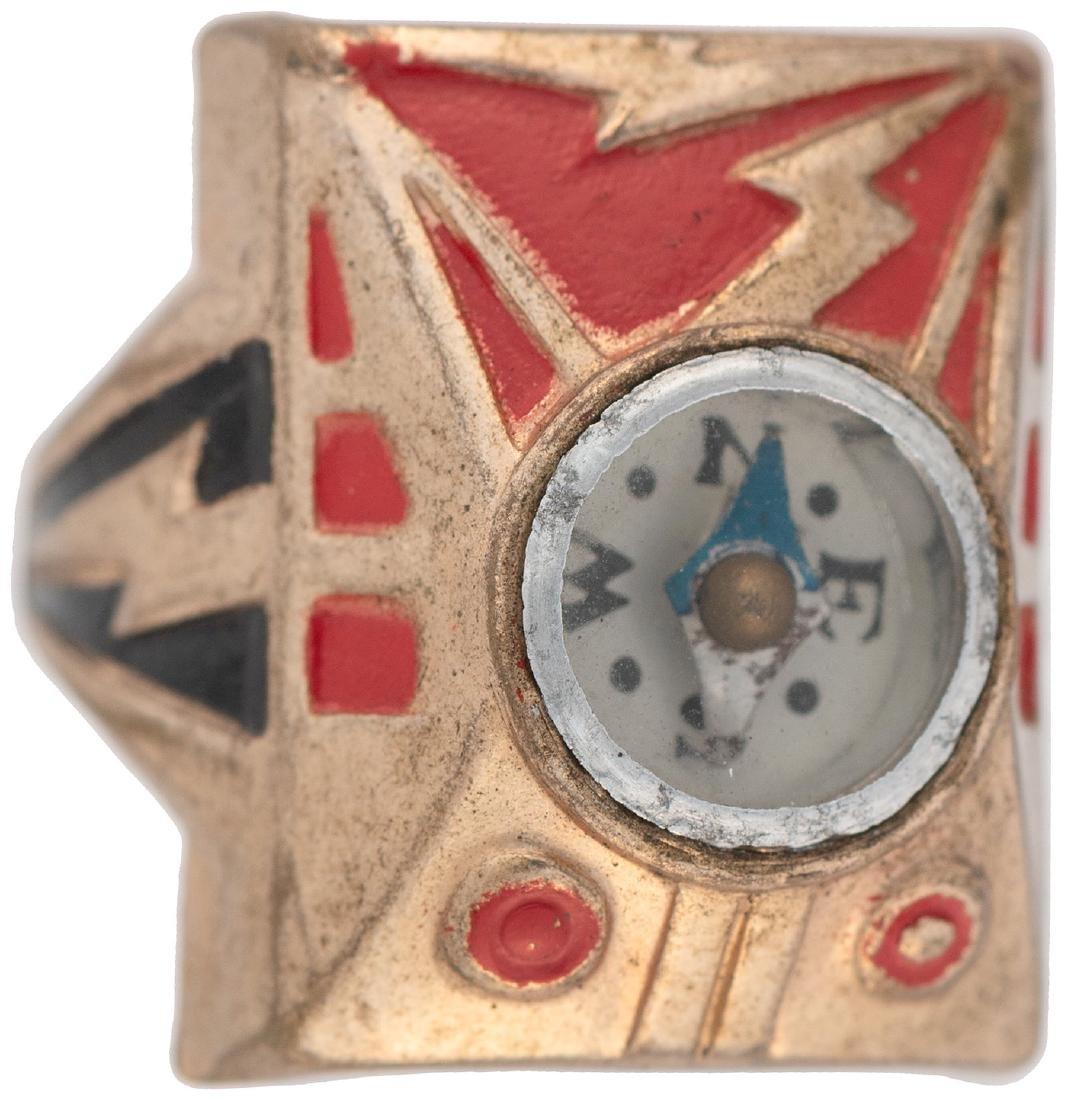 CAPTAIN MARVEL ROCKET RAIDER COMPASS RING.