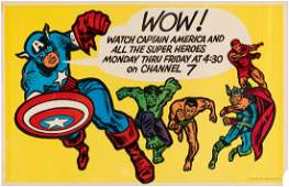 MARVEL SUPER HEROES RARE CHANNEL 7 POSTER.