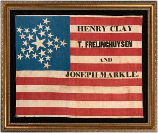 """SUPERB """"HENRY CLAY T. FRELINGHUYSEN AND JOSEPH MARKLE"""""""
