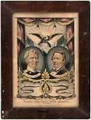 TAYLOR AND FILLMORE 1848 GRAND NATIONAL BANNER JUGATE
