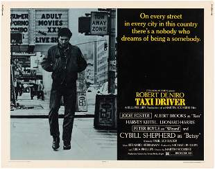 TAXI DRIVER HALFSHEET MOVIE POSTER