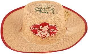 BUFFALO BOB SMITH SIGNED HOWDY DOODY HAT