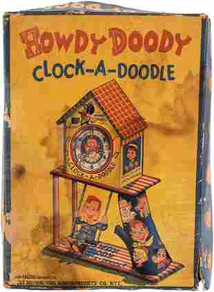 HOWDY DOODY CLOCKADOODLE RARE BOXED WINDUP TOY