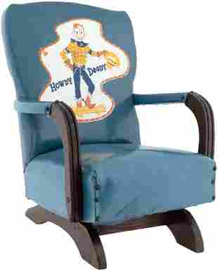 HOWDY DOODY RARE CHILDS ROCKING CHAIR