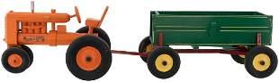 PETERMAR FARM TRACTOR CORN WAGON WOODEN TOY PAIR