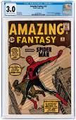"""AMAZING FANTASY"" #15 AUGUST 1962 CGC 3.0 GOOD/VG"