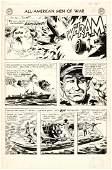 """""""ALL-AMERICAN MEN OF WAR"""" #49 COMIC BOOK PAGE ORIGINAL"""