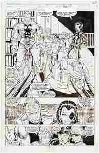 """""""NEW MUTANTS"""" #98 COMIC BOOK PAGE ORIGINAL ART BY ROB"""
