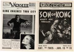 """RKO NEWSETTE"" PAIR WITH ""KING KONG"" & ""SON OF KONG"""