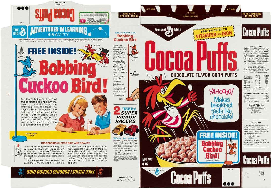 General Mills Cocoa Puffs File Copy Cereal Box Flat Mar 14 2019