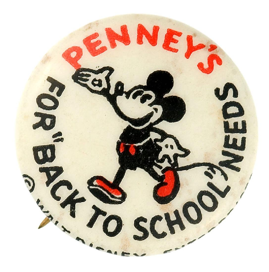 """MICKEY ADVERTISES """"PENNEY'S"""" 1930s SCHOOL SUPPLIES"""