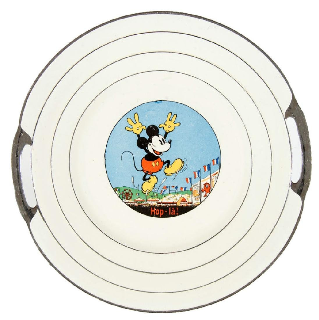 MICKEY MOUSE LARGE FRENCH SERVING PLATE.