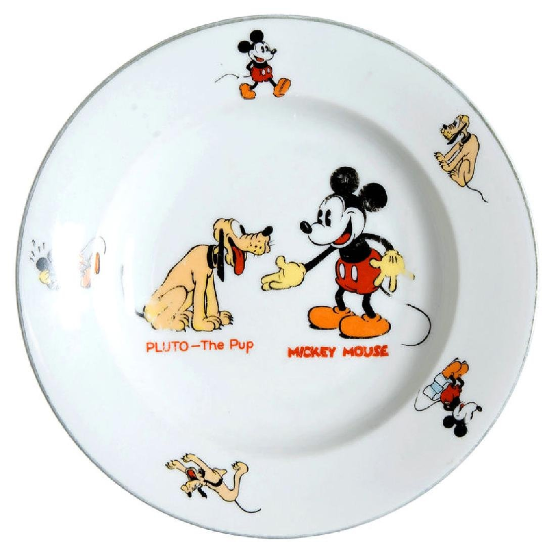 """""""MICKEY MOUSE/PLUTO THE PUP"""" BAVARIAN CHINA SOUP BOWL"""