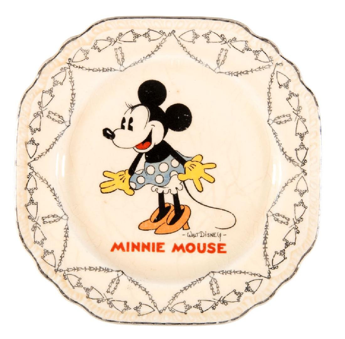 """""""MINNIE MOUSE"""" SALEM CHINA HIGH END DIVISION PLATE."""