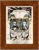 RARE POLK & DALLAS 1844 JUGATE GRAND NATIONAL BANNER BY