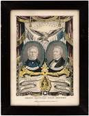 TAYLOR & FILLMORE 1848 JUGATE GRAND NATIONAL BANNER BY