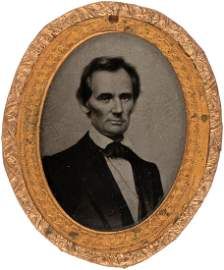 MAGNIFICENT LINCOLN 1860 CAMPAIGN AMBROTYPE BY GEORGE