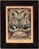 RARE LINCOLN & JOHNSON CIVIL WAR ERA 1864 JUGATE GRAND