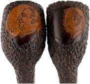 RARE HOOVER AND SMITH PORTRAIT CAMPAIGN PIPES BY
