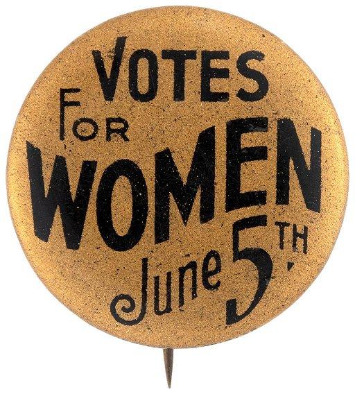 Votes For Women June 5th Iowa Suffrage Button Jul 10 2019