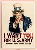 """CLASSIC WORLD WAR I UNCLE SAM """"I WANT YOU FOR U.S."""