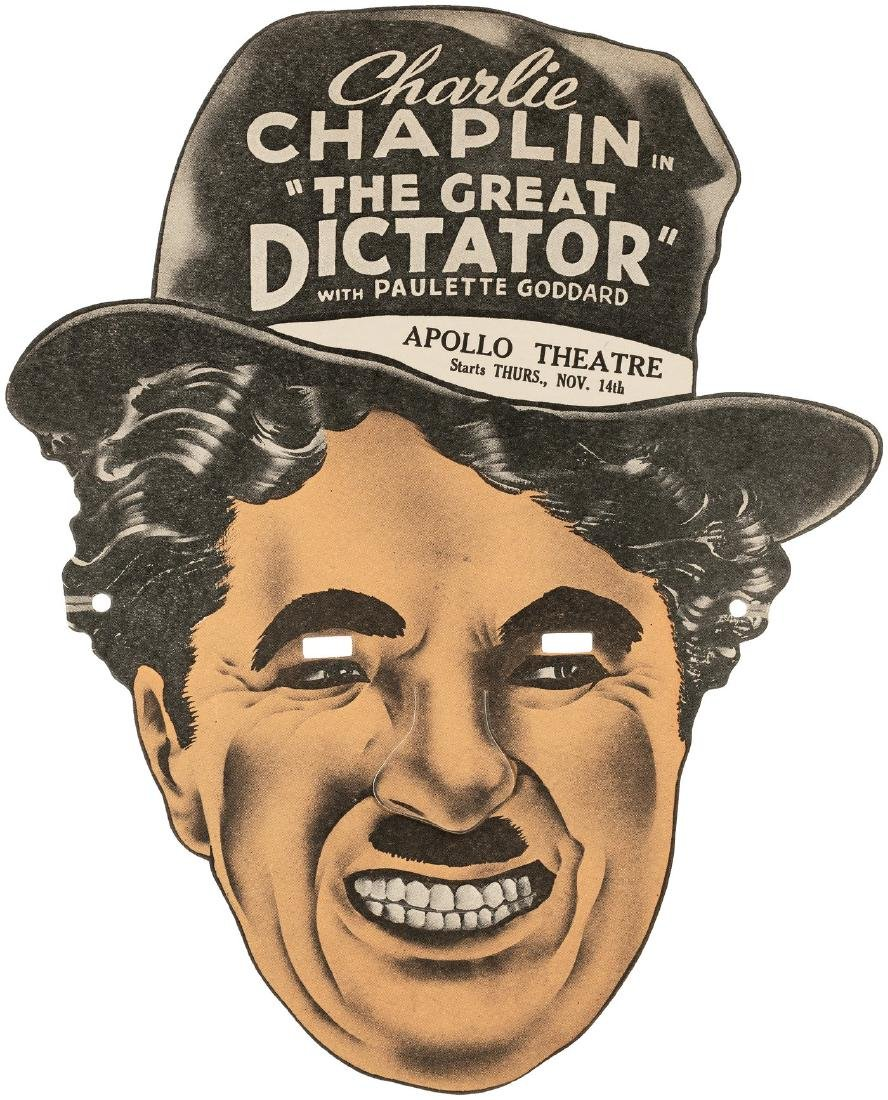 "CHARLIE CHAPLIN ""THE GREAT DICTATOR"" MOVIE THEATER"