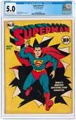 """SUPERMAN"" #9 MARCH-APRIL 1941 CGC 5.0 VG/FINE."