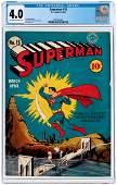 """SUPERMAN"" #15 MARCH-APRIL 1942 CGC 4.0 VG."