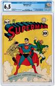"""SUPERMAN"" #17 JULY-AUGUST 1942 CGC 6.5 FINE+."