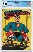 """SUPERMAN"" #21 MARCH-APRIL 1943 CGC 5.0 VG/FINE."
