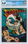 """SUPERMAN"" #23 JULY-AUGUST 1943 CGC 6.0 FINE."