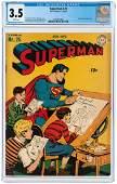 """SUPERMAN"" #25 NOVEMBER-DECEMBER 1943 CGC 3.5 VG-."