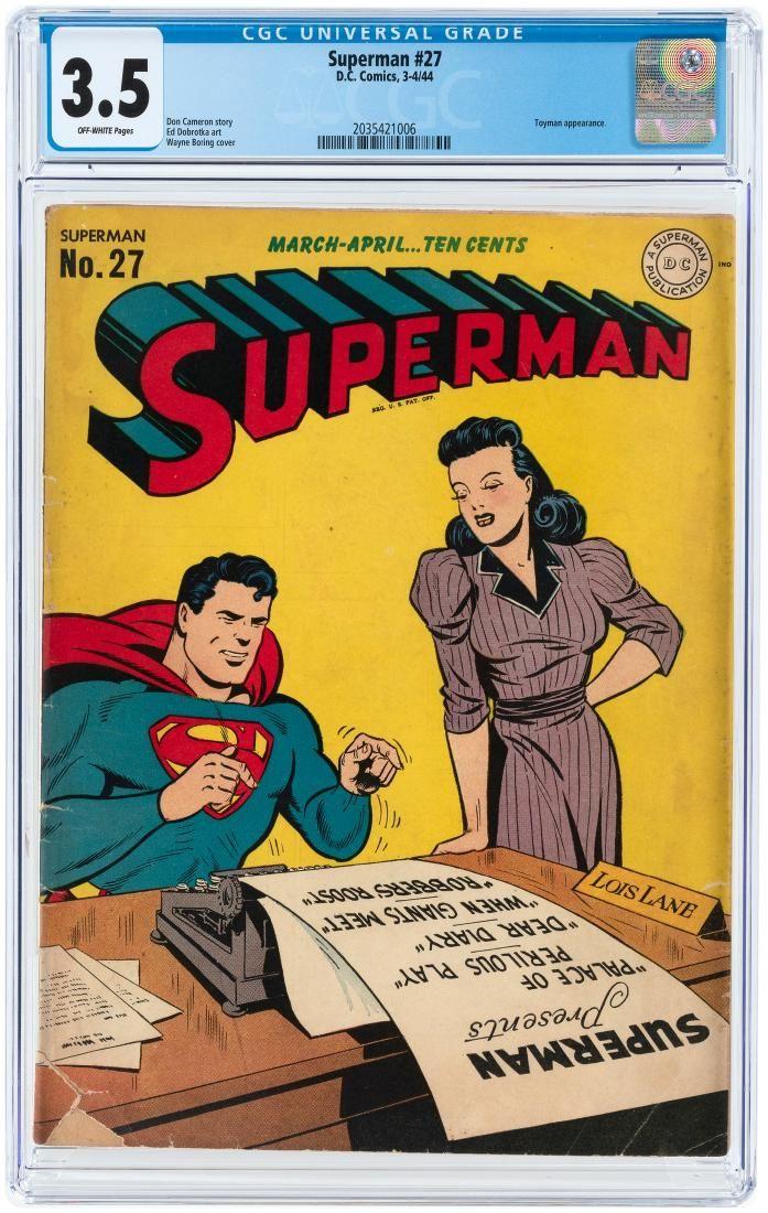 """SUPERMAN"" #27 MARCH-APRIL 1944 CGC 3.5 VG-."