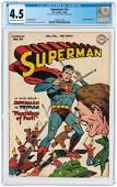 """SUPERMAN"" #44 JANUARY-FEBRUARY 1947 CGC 4.5 VG+."