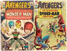 """""""THE AVENGERS"""" RUN OF COMIC ISSUES #5-12."""