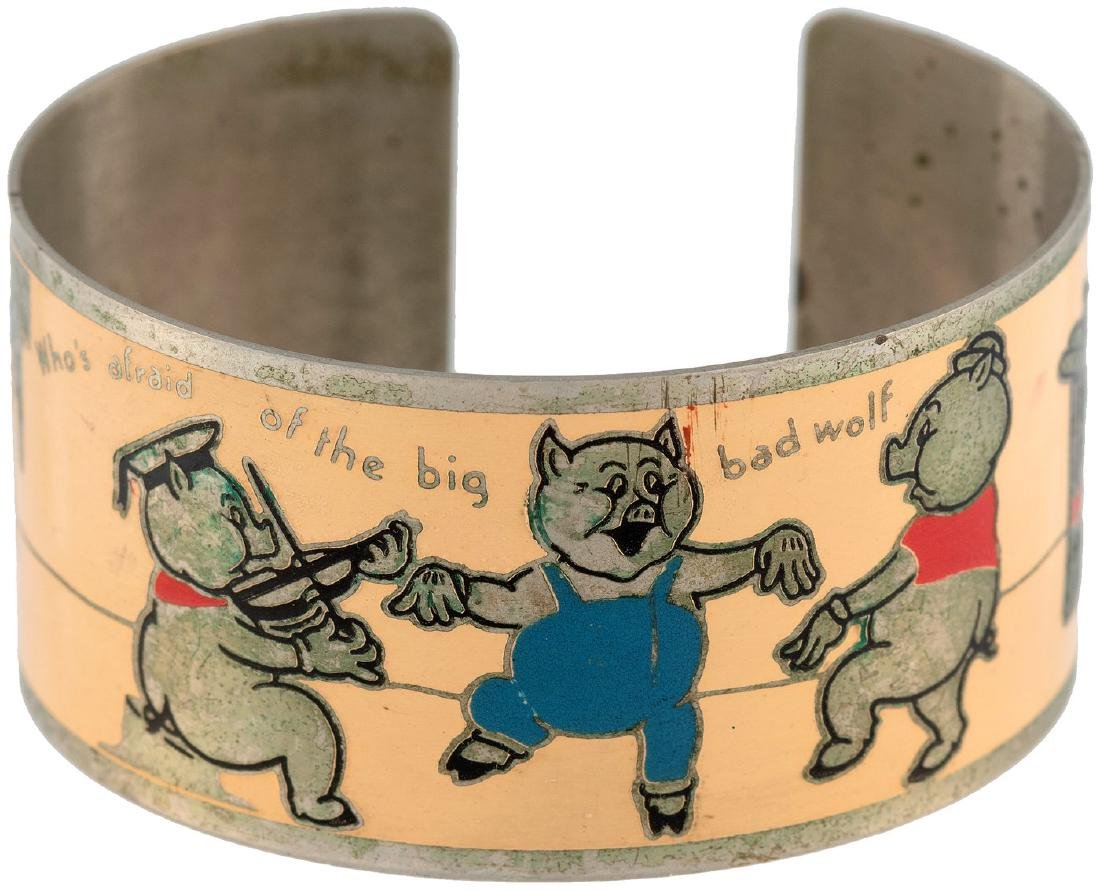 """""""WHO'S AFRAID OF THE BIG BAD WOLF"""" BUTTON & THREE"""