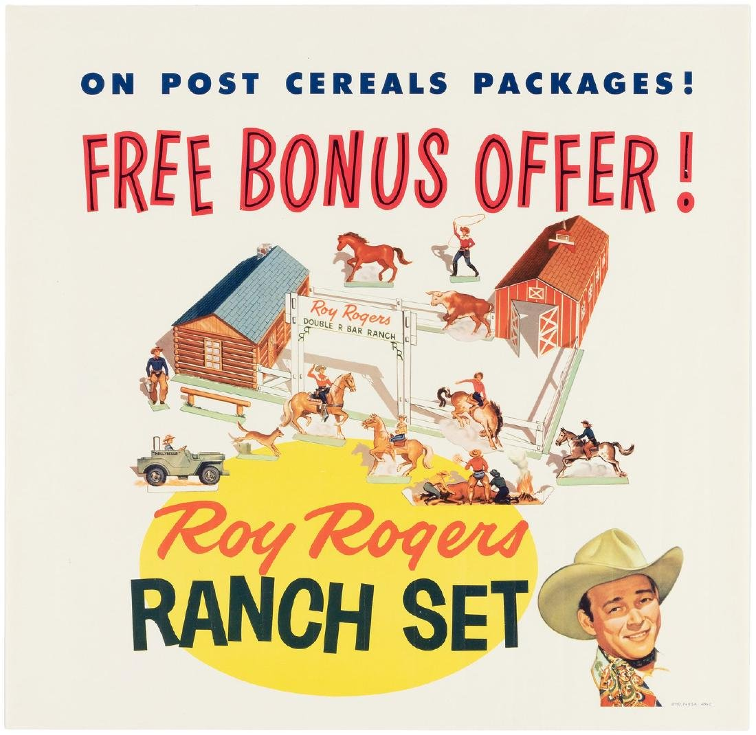 """""""ROY ROGERS RANCH SET"""" POST CEREAL STORE SIGN &"""
